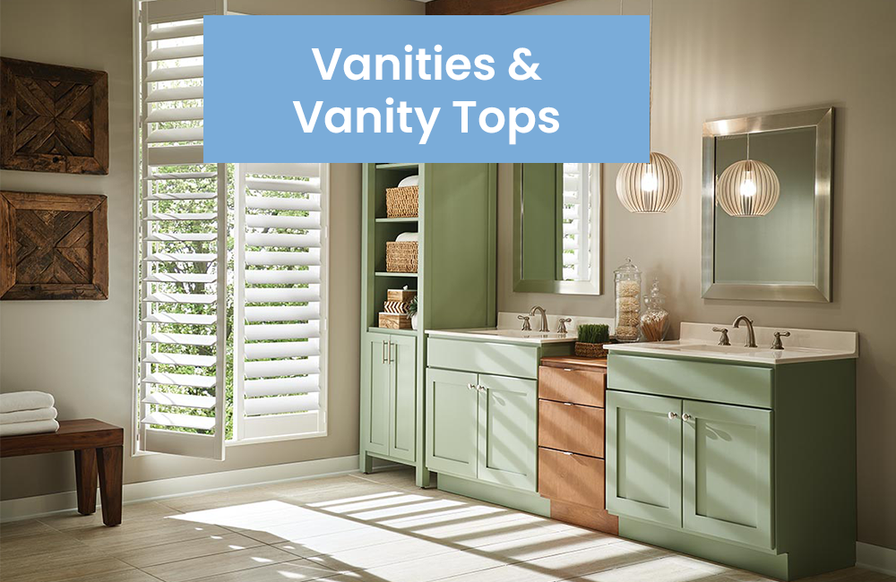 Vanities and vanity tops